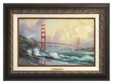 San Francisco, Golden Gate Bridge - Canvas Classic (Aged Bronze Frame)