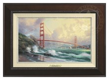 San Francisco, Golden Gate Bridge - Canvas Classic (Espresso Frame)