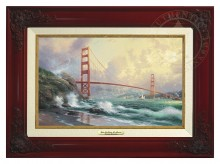 San Francisco, Golden Gate Bridge - Canvas Classic (Brandy Frame)