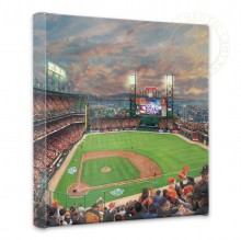 """San Francisco Giants, It's Our Time - 14"""" x 14"""" Gallery Wrapped Canvas"""
