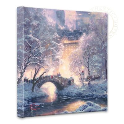 """Holiday at Central Park - 14"""" x 14"""" Gallery Wrapped Canvas"""