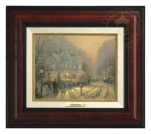 Holiday Gathering, A - Canvas Classic (Burl Frame)