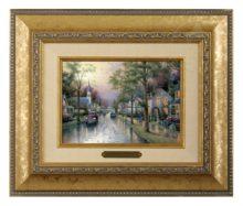 Hometown Morning - Brushwork (Gold Frame)