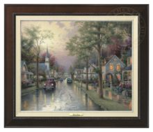 Hometown Morning - Canvas Classic (Espresso Frame)