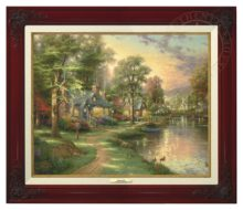 Hometown Lake - Canvas Classic (Brandy Frame)