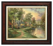 Hometown Lake - Canvas Classic (Burl Frame)