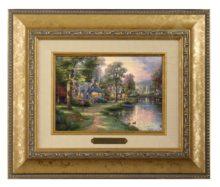 Hometown Lake - Brushwork (Gold Frame)