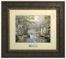 Hometown Evening - Prestige Home Collection (Bronzed Gold Frame)
