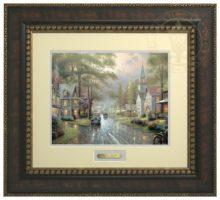 Hometown Evening - Prestige Home Collection (Bronzed Gold Frame)