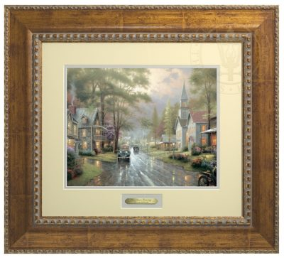 Hometown Evening - Prestige Home Collection (Antiqued Gold Frame)