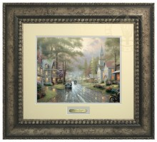 Hometown Evening - Prestige Home Collection (Antiqed Silver Frame)