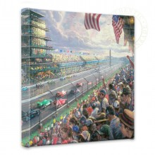 "Indy Excitement, 100 Years of Racing at Indianapolis Motor Speedway - 14"" x 14"" Gallery Wrapped Canvas"