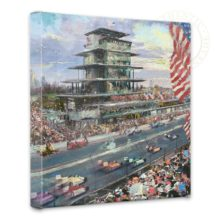 """Indianapolis Motor Speedway, 100th Anniversary Study - 14"""" x 14"""" Gallery Wrapped Canvas"""
