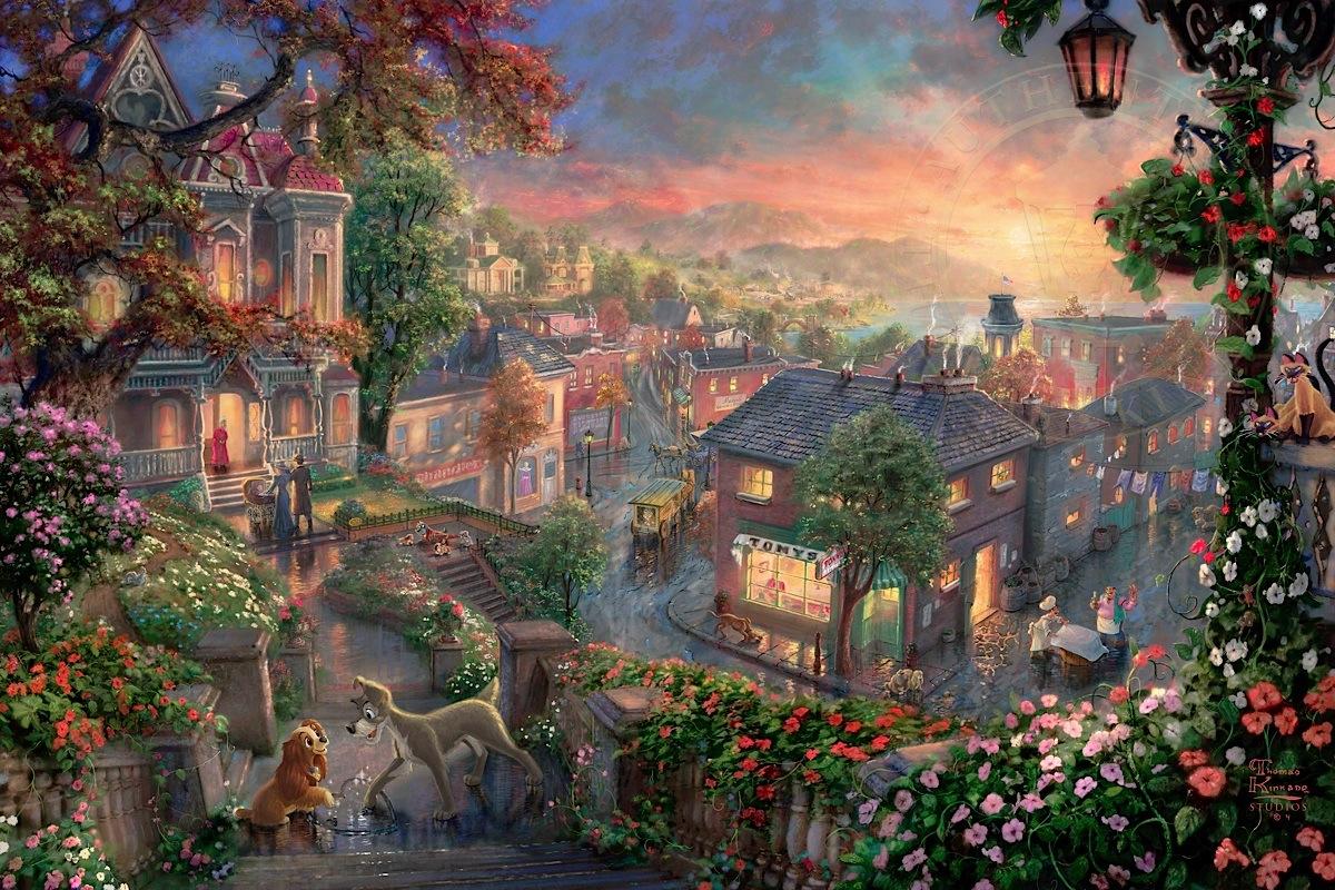 Thomas Kinkade Sleeping Beauty Wallpaper