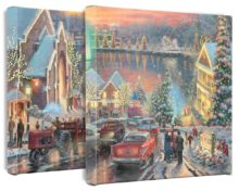 """Lights of Christmastown, The - 14"""" x 14"""" Gallery Wrapped Canvas"""