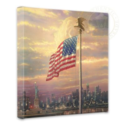 "Light of Freedom, The - 14"" x 14"" Gallery Wrapped Canvas"