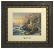 Light of Peace, The - Prestige Home Collection (Bronzed Gold Frame)