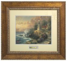 Light of Peace, The - Prestige Home Collection (Antiqued Gold Frame)