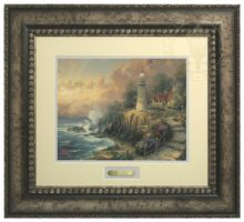 Light of Peace, The - Prestige Home Collection (Antiqed Silver Frame)