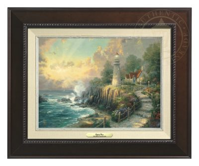 Light of Peace, The - Canvas Classic (Espresso Frame)