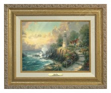 Light of Peace, The - Canvas Classic (Gold Frame)