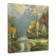 """Mountain Chapel, The - 14"""" x 14"""" Gallery Wrapped Canvas"""