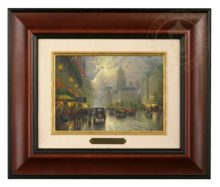 New York, Fifth Avenue - Brushwork (Burl Frame)