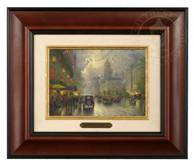 New York, Fifth Avenue - Brushwork (Burl Frame)