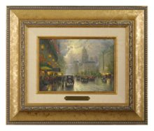 New York, Fifth Avenue - Brushwork (Gold Frame)