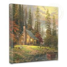 """Peaceful Retreat, A - 14"""" x 14"""" Gallery Wrapped Canvas"""