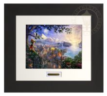 Pinocchio Wishes Upon A Star - Modern Home Collection (Espresso Frame)