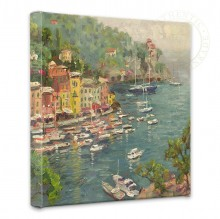 """Portofino - 14"""" x 14"""" Gallery Wrapped Canvas"""