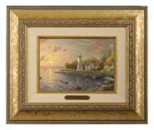 Serenity Cove - Brushwork (Gold Frame)