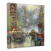 "San Francisco, California Street - 14"" x 14"" Gallery Wrapped Canvas"