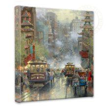 "San Francisco, California Street - 14"" x 14"" Gallery Wrapped Canvas"