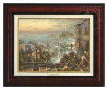 San Francisco, Lombard Street - Canvas Classic (Burl Frame)