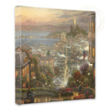"""San Francisco, Lombard Street - 14"""" x 14"""" Gallery Wrapped Canvas"""