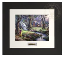 Snow White Discovers the Cottage - Modern Home Collection (Espresso Frame)