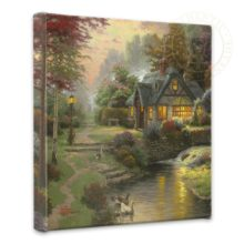 """Stillwater Cottage - 14"""" x 14"""" Gallery Wrapped Canvas"""