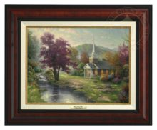 Streams of Living Water - Canvas Classic (Burl Frame)