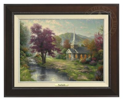 Streams of Living Water - Canvas Classic (Espresso Frame)
