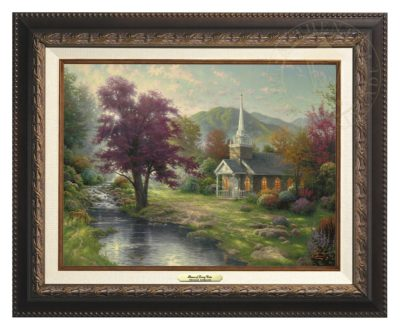 Streams of Living Water - Canvas Classic (Aged Bronze Frame)