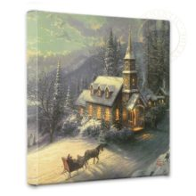 """Sunday Evening Sleigh Ride - 14"""" x 14"""" Gallery Wrapped Canvas"""