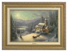 Sunday Evening Sleigh Ride - Canvas Classic (Gold Frame)