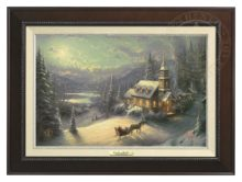 Sunday Evening Sleigh Ride - Canvas Classic (Espresso Frame)