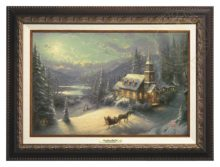 Sunday Evening Sleigh Ride - Canvas Classic (Aged Bronze Frame)