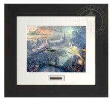 Tinker Bell and Peter Pan Fly to Neverland - Modern Home Collection (Espresso Frame)