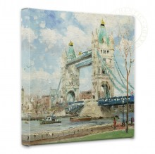 """Tower Bridge, London - 14"""" x 14"""" Gallery Wrapped Canvas"""