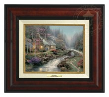 Twilight Cottage - Canvas Classic (Burl Frame)