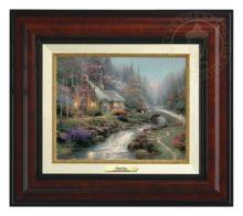 Twilight Cottage - Canvas Classic (Burl Frame)